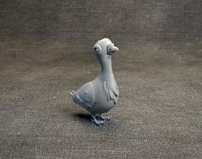 Pigeon - Stylized Bird - 3d printable model dove