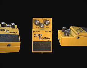 music Super Overdrive Distortion Pedal for Guitar 3D