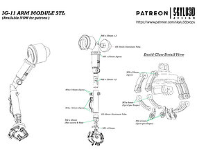 IG-11 Life Size Droid Arm 3D print ready STL - The