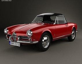 3D model Alfa Romeo Giulietta spider with HQ interior 1955