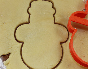 3D print model Snowman 8 cookie cutter for professional