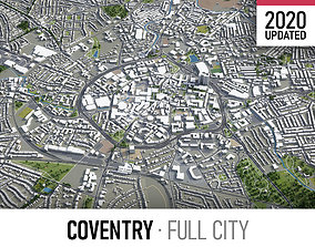 3D model Coventry - city and surroundings