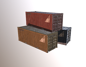 3D model game-ready other Shipping Container