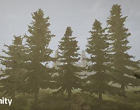 3D asset animated Coniferous cedar forest pack
