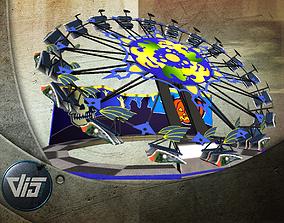3D asset realtime Mobile fairground rides