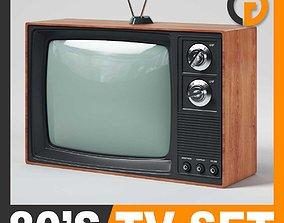 3D model Retro 80s Television Set