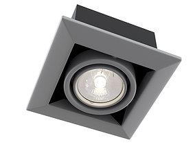 Downlight Metal Modern DL008-2-01-S Maytoni Technical 3D