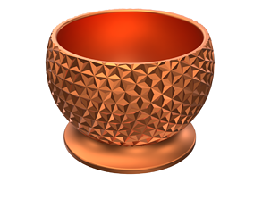Geodesic Bowl 3D Print Ready containers