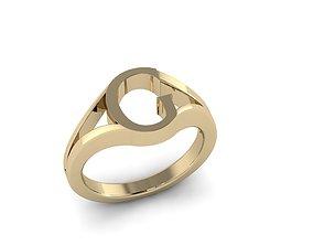 3D print model Jewelry Alphabet Ring G