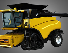 3D model NH - CR 9070 Combine Harvester - with Rubber 1