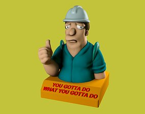 3D print model Futurama poster mascot