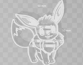 Eevolutions Eevee Pokemon Cookie Cutter 3D printable model