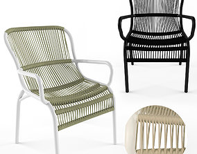 Loop dining chair rope by Vincent Sheppard 3D model