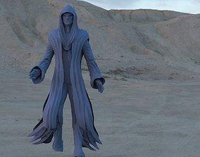 3D Robed hooded Alien