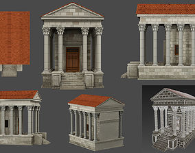 3D asset Athens antique house