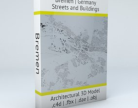 buildings 3D model Bremen Streets and Buildings