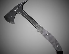Black level Tomahawk Lowpoly 3D model with PBR game-ready