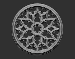 relief 3D print model Gothic Tracery 4