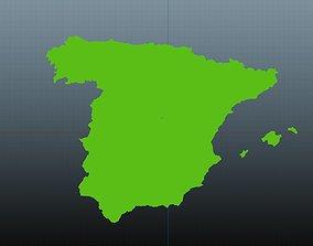 3D asset Spain map symbol