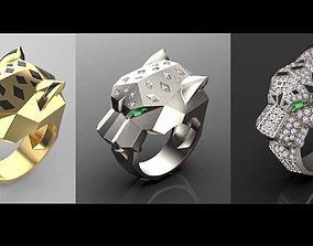 3D print model rings engagement panter