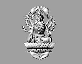 3D printable model laxmi bhagwan with flower
