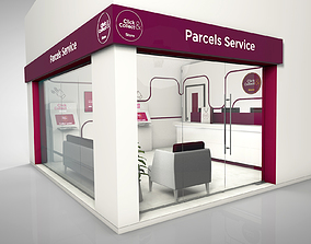 3D online parcels service store
