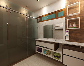 3D model Modern Bathroom Design