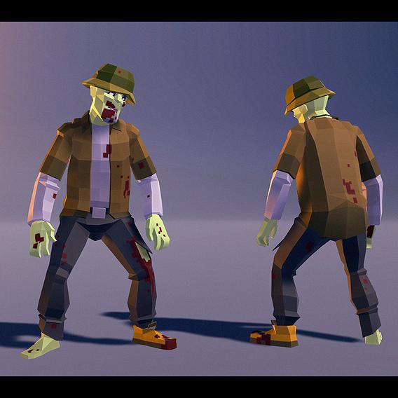 Polygonal Zombie 04