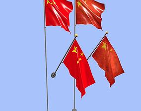 China Flag 3D model
