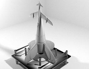3D model Rocket Missile - Q rocketship