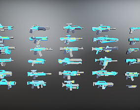 Low Poly Weapon Mega pack 3D model