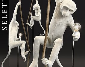 The Monkey Lamp Ceiling Version by Seletti 3D model