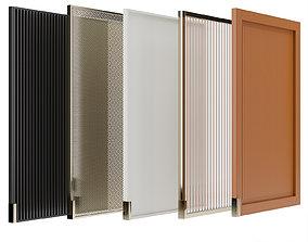 Cabinet doors set 01 light 3D