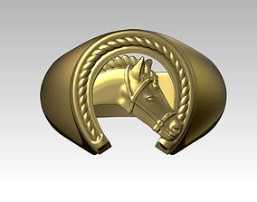 Horse Shoe Ring 3D printable model