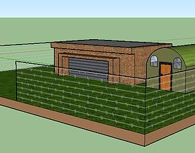 millitary base 3D model