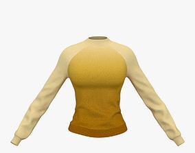 3D model Knitted sweater for girl