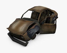 3D asset Damage Car
