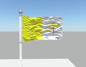 3D Vatican City flag