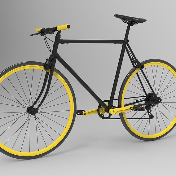 Straight Bicycle Design 3D model