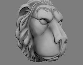 3D print model Lion head art sculpture