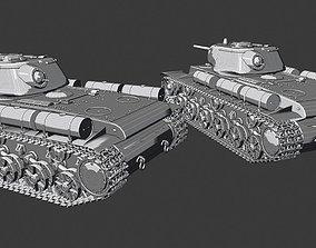 3D printable model KV-1S tanks