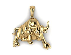 Bull pendant 44mm 3D printable model