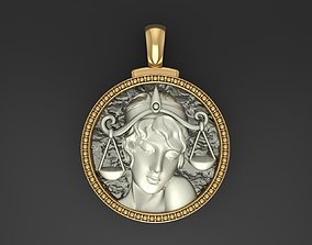 3D printable model Horoscope Zodiac sign Libra pendant