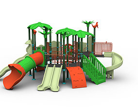 realtime High detailed 3D model playGround kindergarten 2