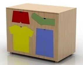 Locker storage 3D model