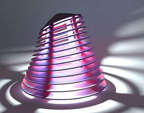 Desktop lamp stylish 3D print model