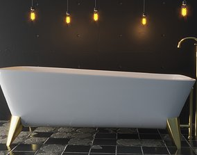 3D asset VR / AR ready Luxury Bath Tub