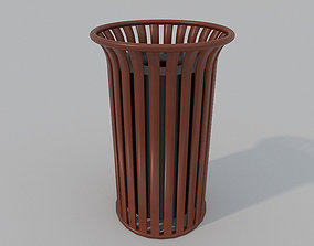 3D model low-poly Low Poly PBR Trash Can