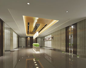 Modern Lobby Office Building 3D