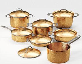 3D model Copper Cookware